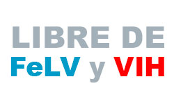 Libre de FeLV y VIH
